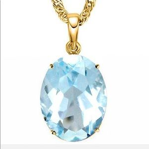 Jewelry - 0.9 CTW SKY BLUE TOPAZ 10K SOLID YELLOW GOLD OVAL